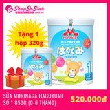[Có Quà Tặng] Sữa Morinaga Hagukumi số 1 (850g)