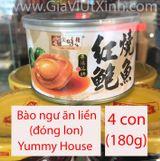 BÀO NGƯ ĂN LIỀN 4 CON 180G YUMMY HOUSE (ĐÓNG LON)