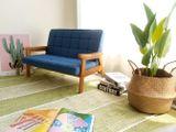 Ghế Sofa Tay Gỗ Trẻ Em 8011-2P ( Ghế đôi )