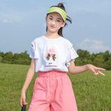 Áo Thun Bé Gái Tay Xòe Cách Điệu - Angel Kids - BG21028