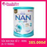 Sữa Nan Nga số 2 800g (Cho trẻ từ 6-12 tháng)