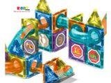Đồ Chơi Xếp Hình Nam Châm Magnetic Blocks Cầu Trượt  Liên Hoàn- KiddyStore- 661TA