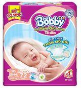Bỉm - Tã dán Bobby size XS72 miếng (cho bé <5kg) | Shop Sơ Sinh 456828