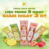 Nước trái cây fresh juice detox (liệu trình 15 ngày) tặng kèm 3 hộp đường hoa quả