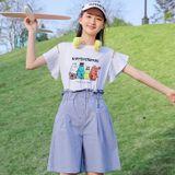 Áo Thun Bé Gái Tay Ngắn Xòe - Angel Kids - BG21027