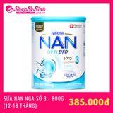 Sữa NAN Nga Số 3 800g (Cho trẻ từ 12-18 tháng)