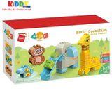 Lego Xếp Hình Những Con Vật Vui Nhộn Qman 5002 (26 Chi Tiết)