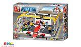 Lego Sluban Aviation M38-B0372-Bộ Lắp Ráp Trạm Bảo Dưỡng Máy Bay