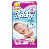 Bỉm - Tã dán Bobby sơ sinh XS42 miếng (cho bé <5kg) | Shop Sơ Sinh 456827