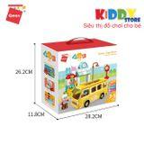 Bộ Xếp Hình Qman Enjoy Đồ chơi trẻ em - Xe Buýt Toot Toot | Kiddystore 5102