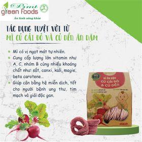 Mì Củ Cải đỏ & Củ dền  Ăn Dặm Organic  - Anpaso (120g)