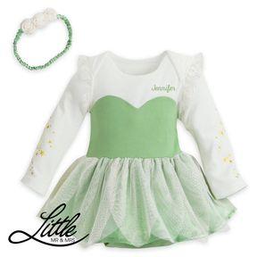 Body Chip Bé Gái - Váy Trẻ Em Kèm Băng Đô Tinker Bell #SD1